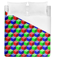 Colorful Prismatic Rainbow Duvet Cover (queen Size) by Alisyart