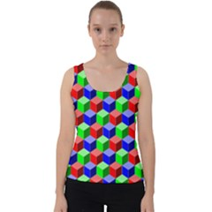 Colorful Prismatic Rainbow Velvet Tank Top by Alisyart