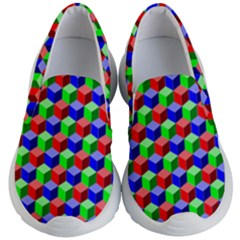 Colorful Prismatic Rainbow Kids  Lightweight Slip Ons by Alisyart