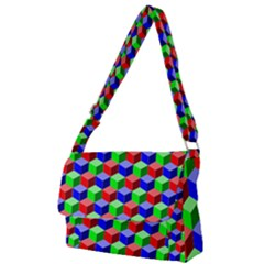 Colorful Prismatic Rainbow Full Print Messenger Bag by Alisyart