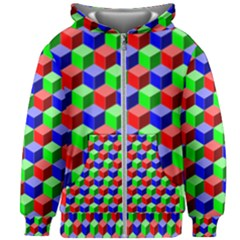 Colorful Prismatic Rainbow Kids  Zipper Hoodie Without Drawstring by Alisyart