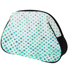 Diagonal Square Cyan Element Full Print Accessory Pouch (big)