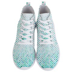 Diagonal Square Cyan Element Men s Lightweight High Top Sneakers