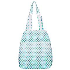 Diagonal Square Cyan Element Center Zip Backpack