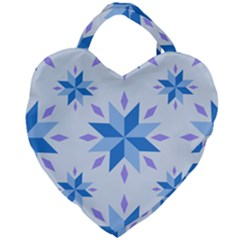 Dutch Star Snowflake Holland Giant Heart Shaped Tote by Alisyart