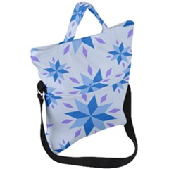 Dutch Star Snowflake Holland Fold Over Handle Tote Bag by Alisyart