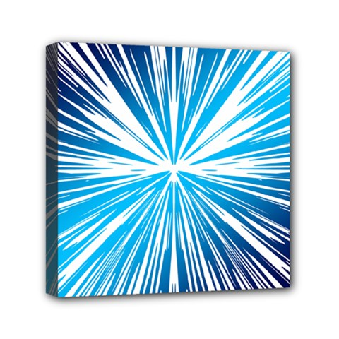 Color Blue Background Structure Mini Canvas 6  X 6  (stretched)