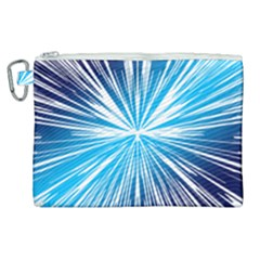 Color Blue Background Structure Canvas Cosmetic Bag (xl)