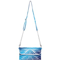 Color Blue Background Structure Mini Crossbody Handbag