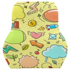 Cute Sketch Child Graphic Funny Car Seat Back Cushion  by Alisyart
