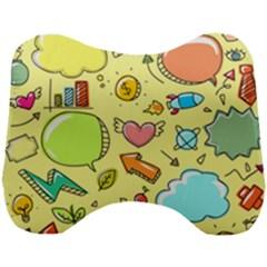 Cute Sketch Child Graphic Funny Head Support Cushion by Alisyart