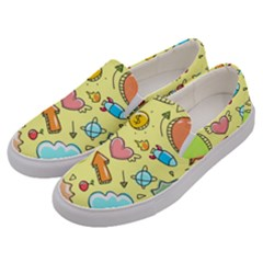 Cute Sketch Child Graphic Funny Men s Canvas Slip Ons by Alisyart