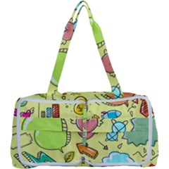 Cute Sketch Child Graphic Funny Multi Function Bag by Alisyart