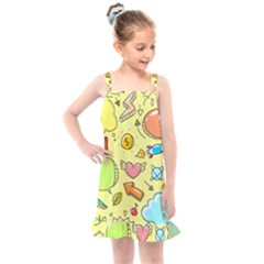 Cute Sketch Child Graphic Funny Kids  Overall Dress by Alisyart