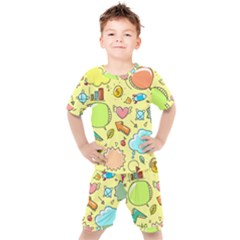 Cute Sketch Child Graphic Funny Kid s Set