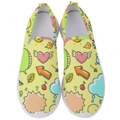Cute Sketch Child Graphic Funny Men s Slip On Sneakers by Alisyart