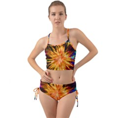 Color Background Structure Lines Rainbow Paint Mini Tank Bikini Set