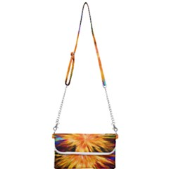 Color Background Structure Lines Rainbow Paint Mini Crossbody Handbag