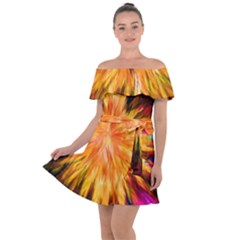 Color Background Structure Lines Rainbow Paint Off Shoulder Velour Dress by Alisyart