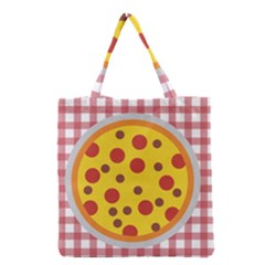 Pizza Table Pepperoni Sausage Grocery Tote Bag