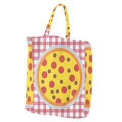 Pizza Table Pepperoni Sausage Giant Grocery Tote