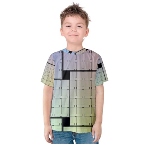 Construction Rectangle Steel Metal Kids  Cotton Tee by Pakrebo