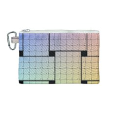 Construction Rectangle Steel Metal Canvas Cosmetic Bag (medium)