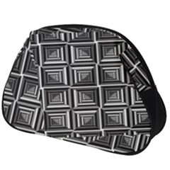 Pattern Op Art Black White Grey Full Print Accessory Pouch (big)