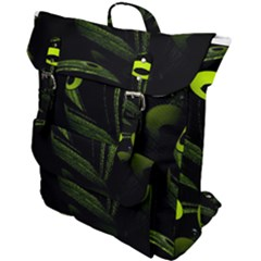 Fractal Fractals Green Ball Black Buckle Up Backpack by Pakrebo