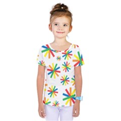 Celebrate Pattern Colorful Design Kids  One Piece Tee