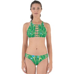 Golf Course Par Golf Course Green Perfectly Cut Out Bikini Set