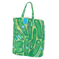 Golf Course Par Golf Course Green Giant Grocery Tote
