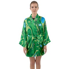 Golf Course Par Golf Course Green Long Sleeve Kimono Robe