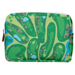 Golf Course Par Golf Course Green Make Up Pouch (medium)