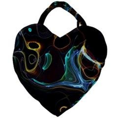 Abstract Background Pattern Giant Heart Shaped Tote by Pakrebo