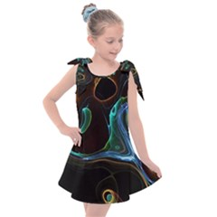 Abstract Background Pattern Kids  Tie Up Tunic Dress