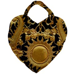 Golden Sun Gold Decoration Wall Giant Heart Shaped Tote