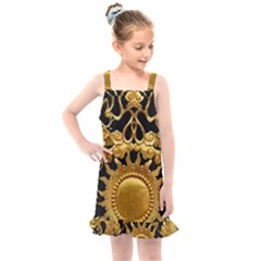 Golden Sun Gold Decoration Wall Kids  Overall Dress