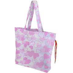 Valentine Background Hearts Bokeh Drawstring Tote Bag