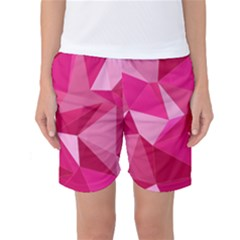 Pattern Halftone Geometric Women s Basketball Shorts