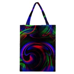 Swirl Background Design Colorful Classic Tote Bag