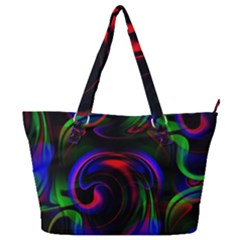 Swirl Background Design Colorful Full Print Shoulder Bag