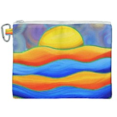 Paint Painting Landscape Scene Canvas Cosmetic Bag (xxl) by Pakrebo