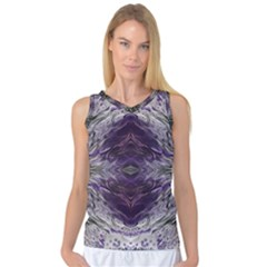 Pattern Abstract Horizontal Women s Basketball Tank Top