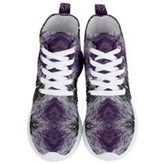 Pattern Abstract Horizontal Women s Lightweight High Top Sneakers