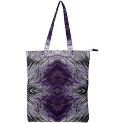 Pattern Abstract Horizontal Double Zip Up Tote Bag