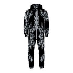 Snowflake Abstract Pattern Shape Hooded Jumpsuit (kids)