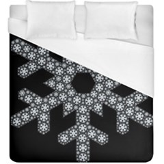 Snowflake Abstract Pattern Shape Duvet Cover (king Size) by Pakrebo