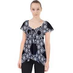 Snowflake Abstract Pattern Shape Lace Front Dolly Top