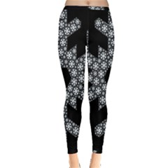 Snowflake Abstract Pattern Shape Inside Out Leggings